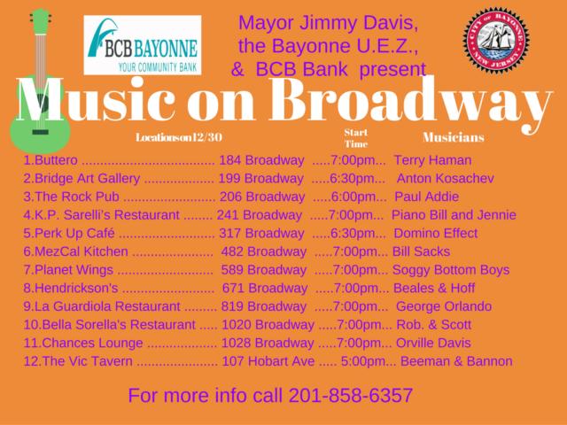 Music on broadway bayonne