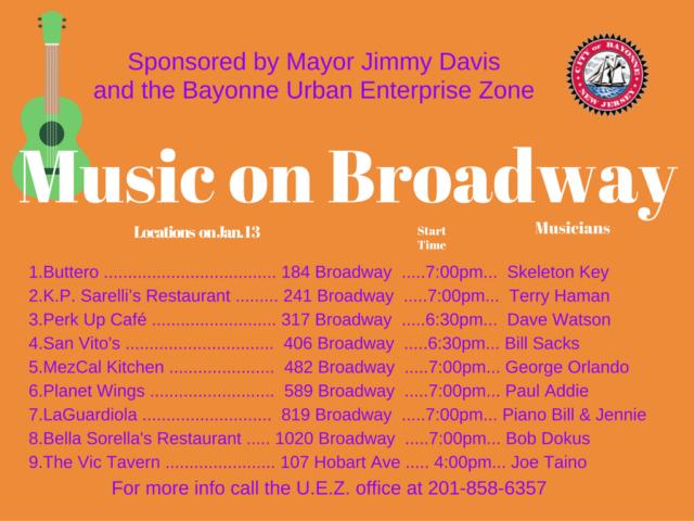 Listing Music Broadway Bayonne