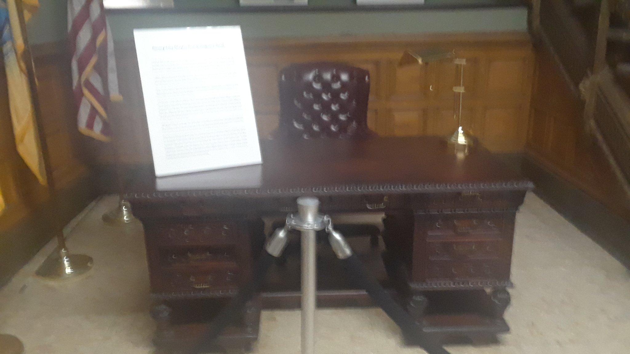 Mayor Frank Hague's desk