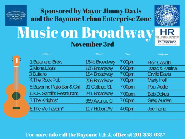 Music Broadway Bayonne November 3rd 2017