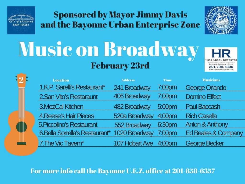 MUSIC BROADWAY Bayonne February 23, 2019